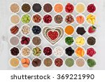 large superfood selection in... | Shutterstock . vector #369221990