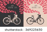 valentine card with bike | Shutterstock .eps vector #369225650