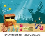 Underwater Scenery With An Ope...