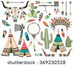 tribal vector   teepee  arrow ... | Shutterstock .eps vector #369230528