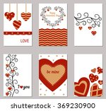set of valentines day greeting... | Shutterstock .eps vector #369230900