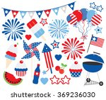 fourth of july party | Shutterstock .eps vector #369236030