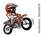 splashing biker motorcycle rider | Shutterstock .eps vector #369246074