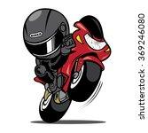 wheelies biker motorcycle rider | Shutterstock .eps vector #369246080