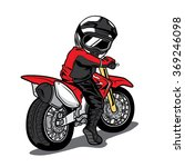 splashing biker motorcycle rider | Shutterstock .eps vector #369246098