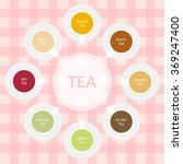 types of tea  green tea  black... | Shutterstock .eps vector #369247400