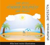 beach ocean | Shutterstock .eps vector #369251774