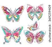 butterflies design | Shutterstock .eps vector #369259409