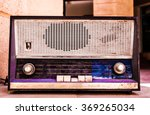 antique radio on vintage... | Shutterstock . vector #369265034