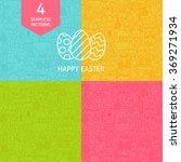 thin line art happy easter... | Shutterstock .eps vector #369271934