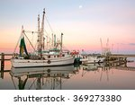 Shrimp Boats At Sunrise