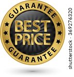 best price guarantee golden... | Shutterstock .eps vector #369276320