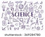 science doodles on white grid... | Shutterstock .eps vector #369284780