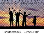 concept of refugee. silhouette... | Shutterstock . vector #369286484