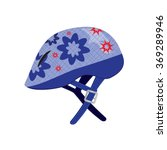 children's helmet for roller... | Shutterstock .eps vector #369289946