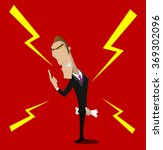very angry boss swears.... | Shutterstock .eps vector #369302096