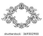 vintage baroque victorian frame ... | Shutterstock .eps vector #369302900