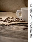 low angle view of coffee beans...   Shutterstock . vector #369303044