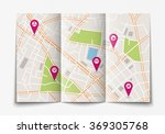 vector flat paper city map... | Shutterstock .eps vector #369305768