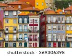 ribeira  the old town of porto  ... | Shutterstock . vector #369306398