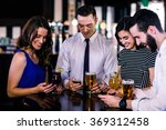 group of friends texting and... | Shutterstock . vector #369312458