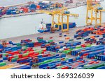 barcelona. cargo port.   Shutterstock . vector #369326039