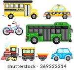 land transportation vector set | Shutterstock .eps vector #369333314