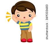 boy hearing a sound   Shutterstock .eps vector #369333683