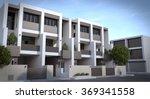 blur mid century townhouse... | Shutterstock . vector #369341558
