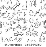 hand drawn doodle seamless... | Shutterstock .eps vector #369344360
