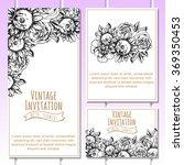 vintage delicate invitation... | Shutterstock .eps vector #369350453