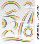 set of transparent rainbows in... | Shutterstock .eps vector #369350954
