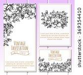 romantic invitation. wedding ... | Shutterstock .eps vector #369354410