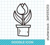 flower doodle | Shutterstock .eps vector #369355253