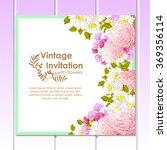 vintage delicate invitation... | Shutterstock .eps vector #369356114