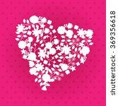 valentine's flower silhouette | Shutterstock .eps vector #369356618