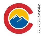 colorado hill logo vector.