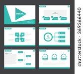 green presentation templates... | Shutterstock .eps vector #369366440