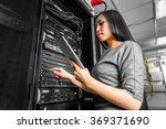 engineer businesswoman in... | Shutterstock . vector #369371690
