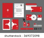 corporate identity template for ... | Shutterstock .eps vector #369372098
