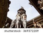 wooden statues in sanctuary of... | Shutterstock . vector #369372209