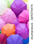 colorful umbrella for be a...   Shutterstock . vector #369374474