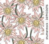 lotos fabric pattern.seamless... | Shutterstock .eps vector #369410696