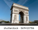 paris january 10  the arc de... | Shutterstock . vector #369410786
