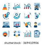 data analysis flat icons... | Shutterstock . vector #369410906