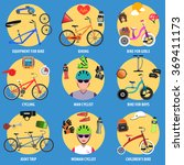 bicycle icons set | Shutterstock . vector #369411173