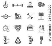 car service icons black | Shutterstock . vector #369411320