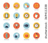 strategy icons set | Shutterstock . vector #369411338