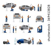 mechanic flat icons | Shutterstock . vector #369413828