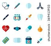 medical icons flat set | Shutterstock . vector #369413933